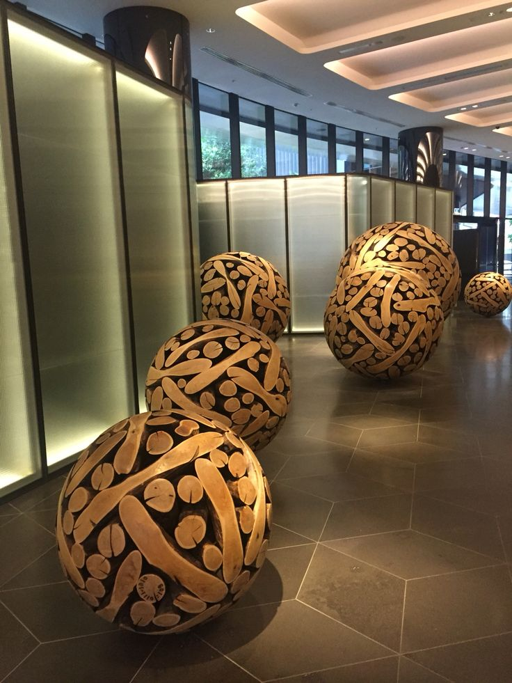 PHOTO 3: Timber sculpture in Crown Metropol.