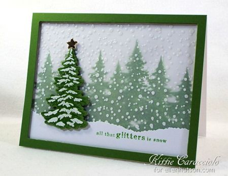 Hero Arts Snowy Trees by Kittie Caracciolo