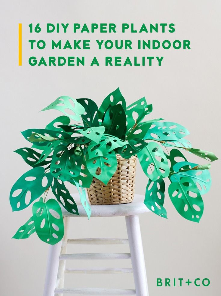 16 DIY paper plant projects to make your indoor garden a reality.