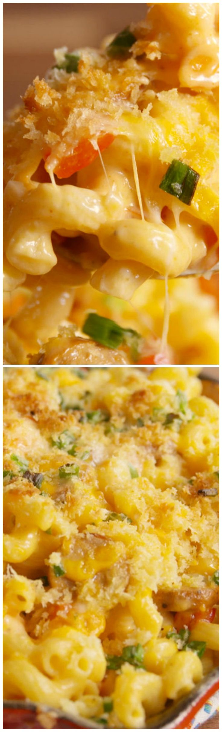 Cajun Mac & Cheese ~ It's the simple cheese sauce that makes it. A blend of cajun seasoning, milk, cheddar, and Monterey (feel free to mix up this cheese combo) creates the perfectly silky coating for your noodles and shrimp and sausage mixture