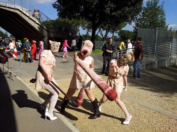 Silent Hill 2/3 Closer and Nurses, Roma Comics 2013. Cosplayer (Closer): Moxie Logan (Giorgia Errera)
