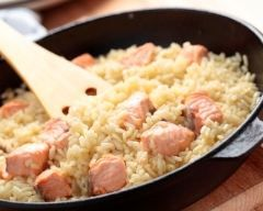 Risotto au saumon  simple (facile, rapide) - Une recette CuisineAZ