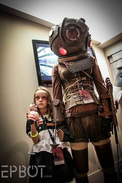 Big Sister and Little Sister from BioShock at Dragon Con 2015 Cosplay | costume gaming geek