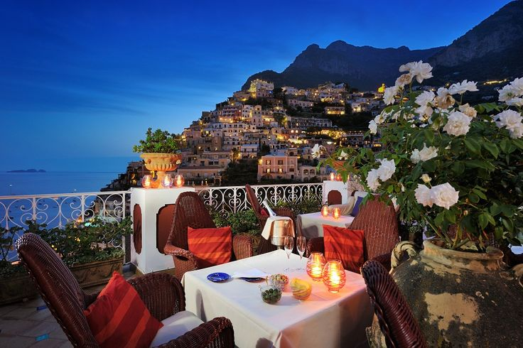 With the spectacular Amalfi Coast as a backdrop, the Michelin-starred La Sponda Restaurant at Le Sirenuse makes for the ultimate romantic dinner destination