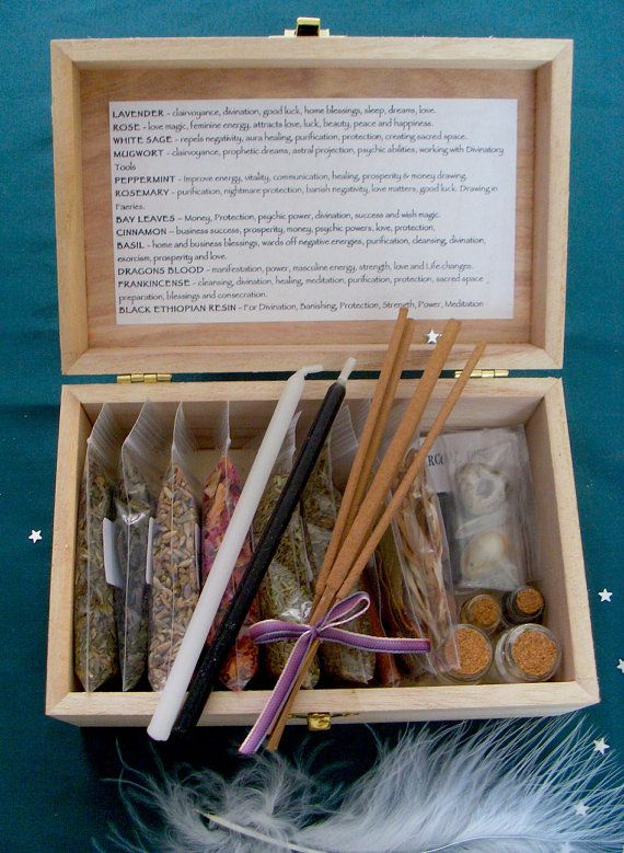 Witches Herb Box Wicca Starter Kit for by TheCaterpillarQueen