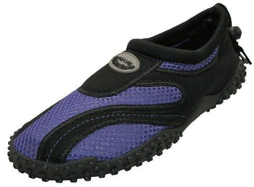 awesome Womens Drinking water Shoes Aqua Socks Pool Seashore ,Yoga,Dance and Physical exercise (eight, Purple/Black 1185L)