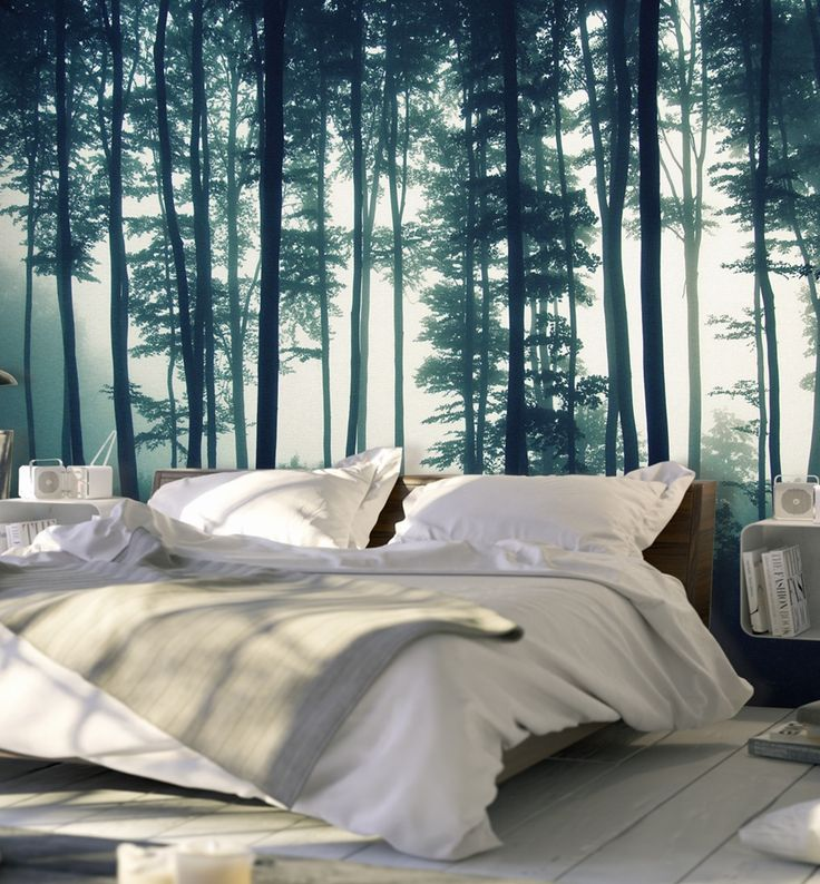 Into the woods! The trendiest wallpaper with trees motif in scandinavian style