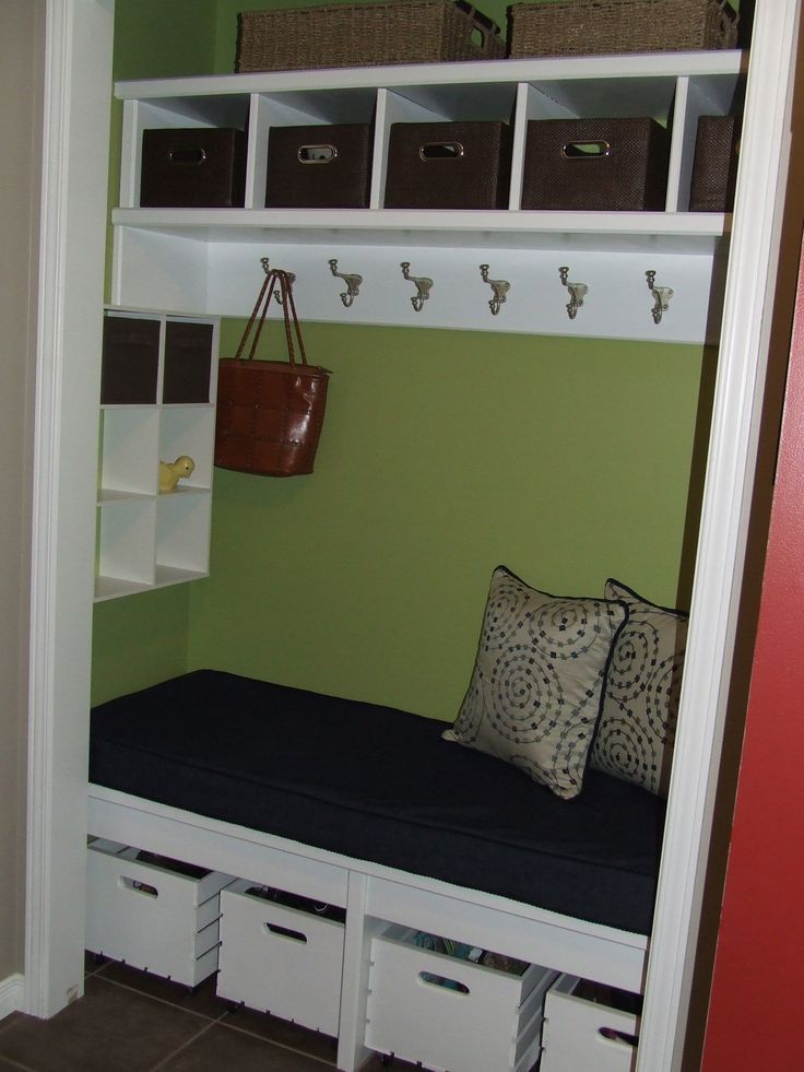 Nolan's nook! new entry closet. Loving all the extra storage