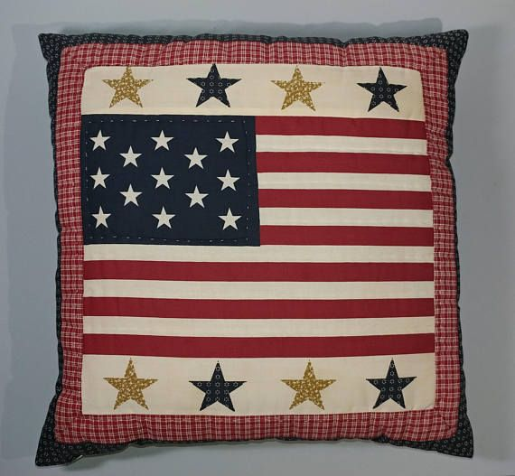 15x15 Colonial Flag Style Pillow United States 13 Colonies Etsy Colonial Flag Patriotic Pillow Patriotic Stars