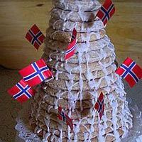 Norway's signature cake - Kransekake, Almond Ring Cake - photo ©Kari Diehl, licensed to About.com