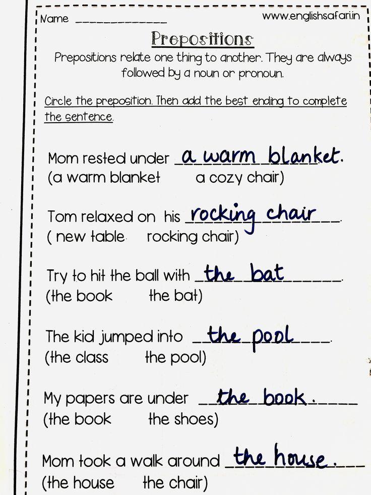 prepositions worksheet pack FREE www in 2020 Preposition