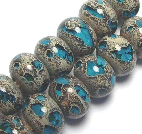 Tutorial on my Jewel Stones beads, an organic type and fun to make! - Lampwork Etc.