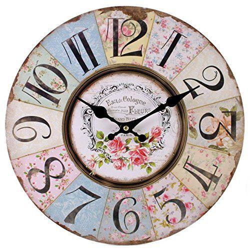 Les 25 meilleures id es de la cat gorie horloge florale for Jolie horloge murale