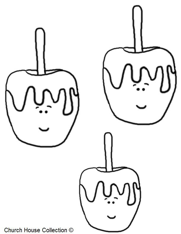 Candy Apple Coloring Page 3 612x792 Pixels
