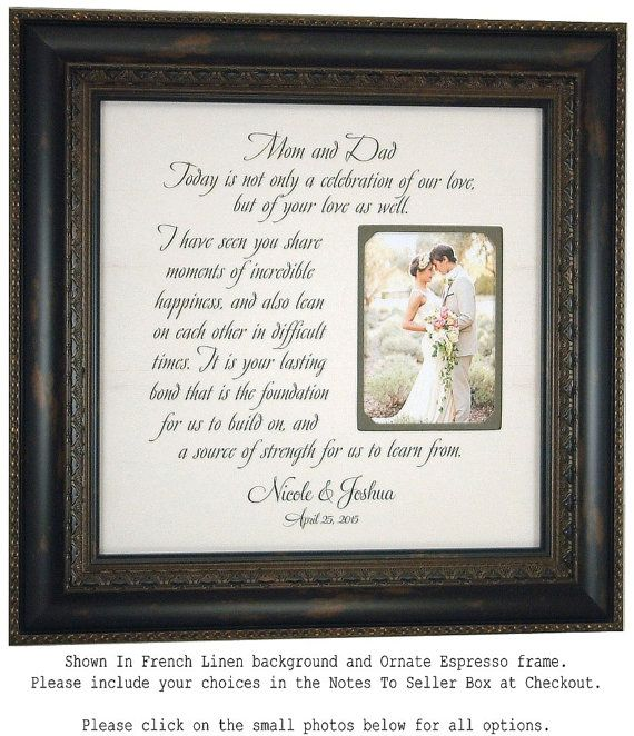 Personalized Wedding Frame Thank You Bride By PhotoFrameOriginals