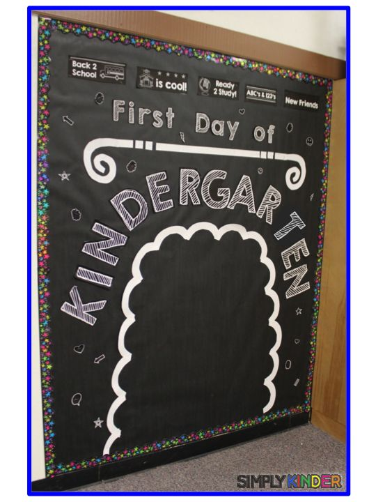 First Day Chalboard Bulletin Board Set - How It Works - Simply Kinder