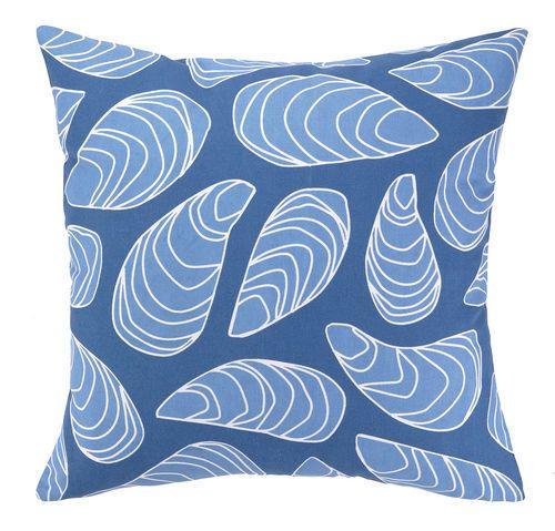 Blue Mussel Shells Outdoor Pillow