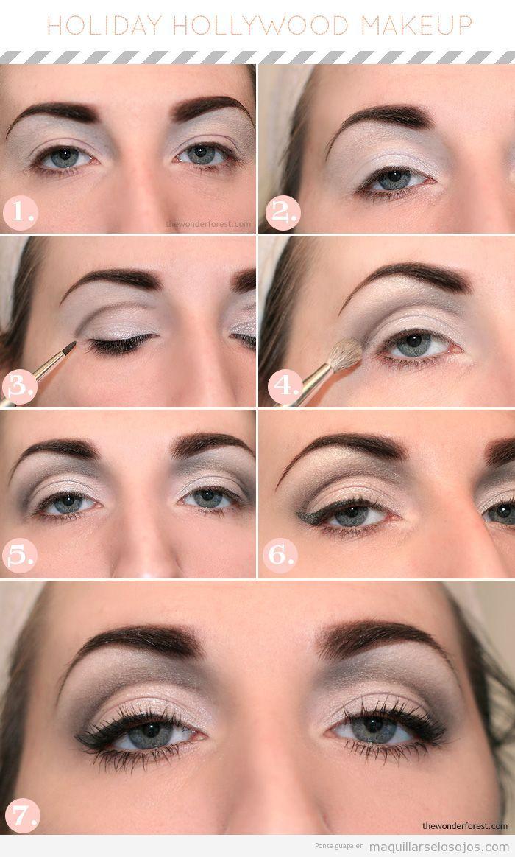Tutorial paso a paso para aprender un maquillaje de ojos estilo Hollywood clásico