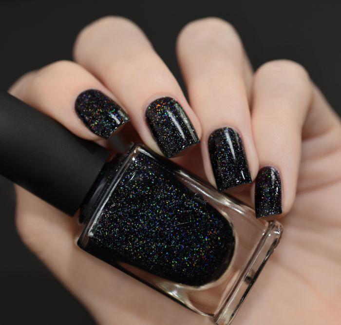 Cityscape – True Black Holographic Jelly Nail Polish – Nails