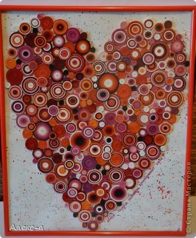 Поделка, изделие Квиллинг: квиллинг-сердце)) Бумажные полосы День рождения. Фото 1: Coil Heart, Sweet Heart, Quilling Heart