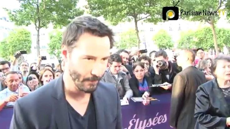 KEANU REEVES talks about his latest movie at Paris red carpet!  CEFF JUNE 14 2014