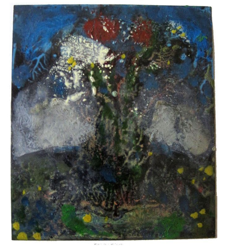 Tree. Oil on card. Philip Weaver