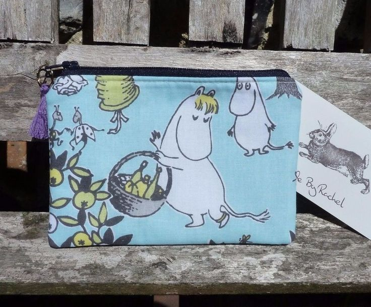 •Made with cotton fabric with Snork Maiden on the front side and Little My on the back. • Zip top with a navy blue zip finished with a purple tassel zip pull. Beautiful Handmade Coin Purse. • Lined in light blue cotton fabric. | eBay!