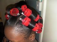 My Ponytail Rollerset/Saran Wrap method « My Long Hair Journey