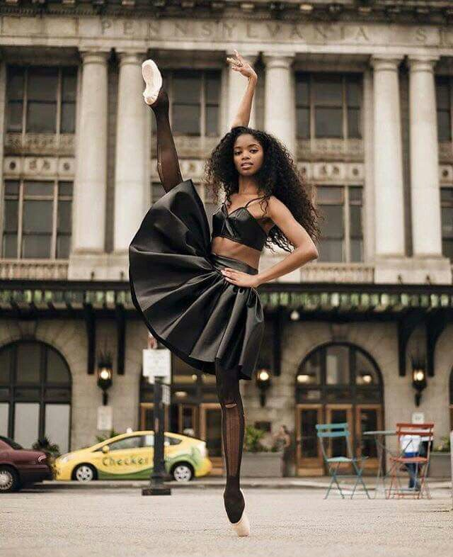 Dancer pictured is Nardia Boodoo of the Washington Ballet. Photo taken by Rachard Wolf.
