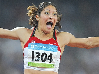 Whitby's Priscilla Lopes-Schliep looking to defend Olympic medal in London. Seen here celebrating her bronze medal in the women's 100-metre hurdle final in Beijing
