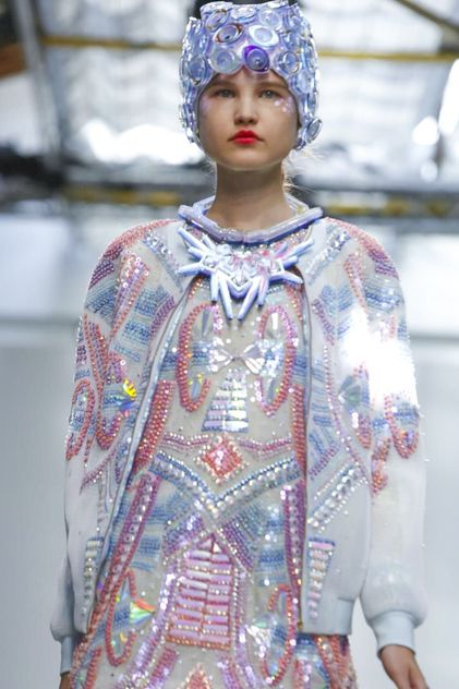 Manish Arora Ready To Wear Spring Summer 2015 Paris hat designed by Lili Colley for Manish Arora