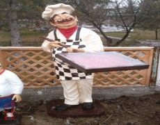 Pizzeria cooks Statue