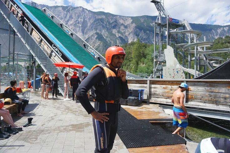 Noch am Überlegen … soll ich es wirklich machen? :) #slipnslide #area47 #ötztal #tirol #urlaub #sommer #sommerurlaub #innsbruck #berge #alpen #bergsport