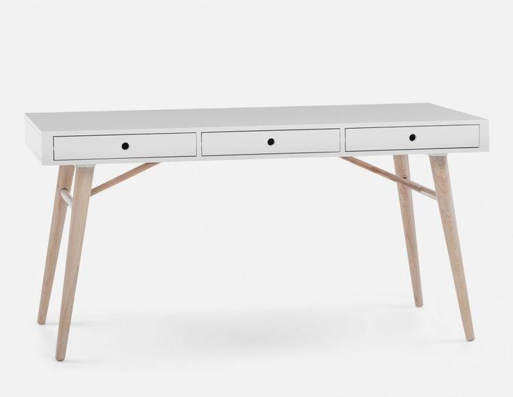 EMERSON - Bureau 150cm - Blanc