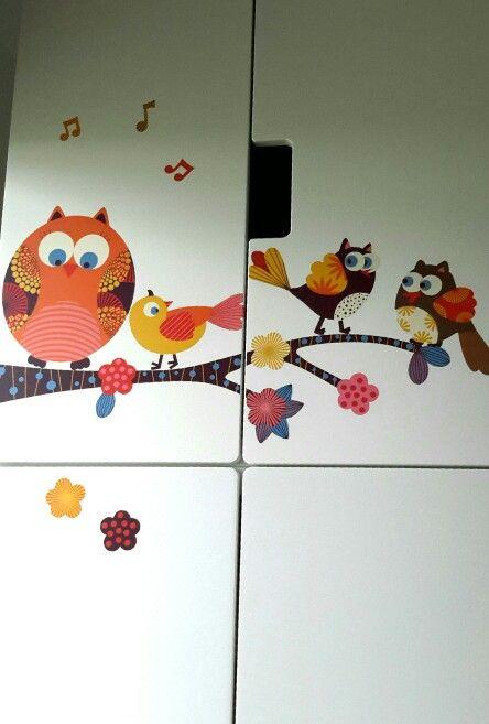 Stickers  decorativi per bimba - Decorazione armadio per bambina.