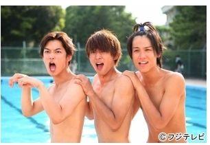"Yudai Chiba, Ryo Yoshizawa, Taishi Nakagawa, J drama, sports comedy, ""Suikyu Yankees(Water Polo Yankees)"", 2014. Plot & Ep.1-10: http://dramanice.com/drama/suikyu-yankees-detail [Eng. Sub] So funny n nice drama!!!"