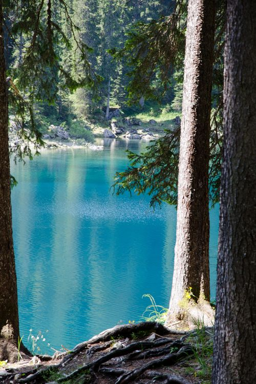 Turquoise Lake, The Dolomites, Italy photo via victoria: