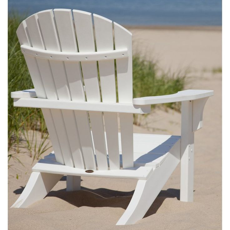 Outdoor POLYWOOD® Seashell Recycled Plastic Adirondack Chair