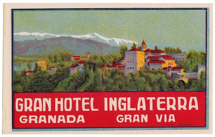 SPAIN LABEL - Granada - Gran Hotel Inglaterra | by Luggage Labels by b-effe