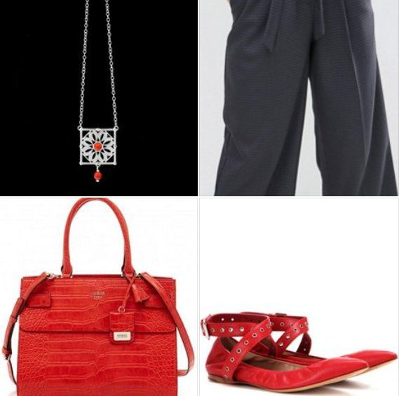 Per il #KonKoutfit di ogni giorno suggeriamo una mise versatile tra lavoro e tempo libero… Vi proponiamo un look comodo con gonna pantalone con fusciacca in vita con classica camicia panna e un tocco di rouge dalla forte personalità. Aggiungete le super trendy ballerine love latch Valentino e la collana 'margherita di conchiglie' con corallo Arkea R. #FW1617 #outfit #look #bloggers