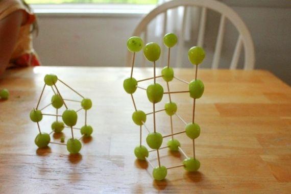 Edible Art Grape & Toothpick Sculpture