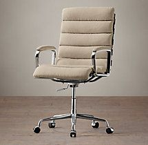 Oviedo Upholstered Desk Chair.  Renovation Hardware