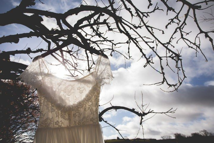 The Emme-waisted dress from Grace Loves Lace - Cotswolds Barn Wedding By Claire Basiuk Photography