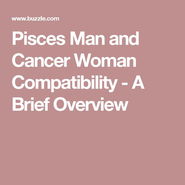 Cancer woman pisces man attraction