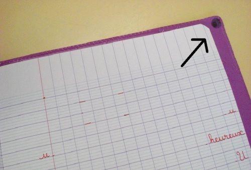 Astuce pour les cahiers d'écriture de gaucher