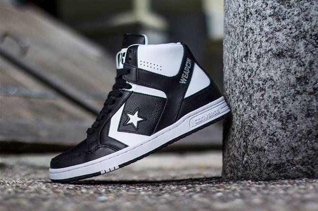 Converse Weapon Mid   Black / White
