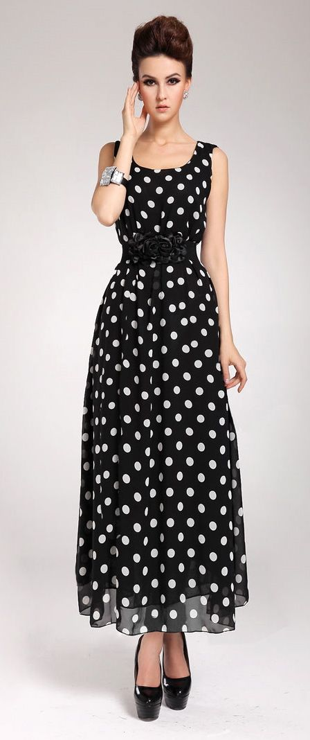 fashion polka dots dress