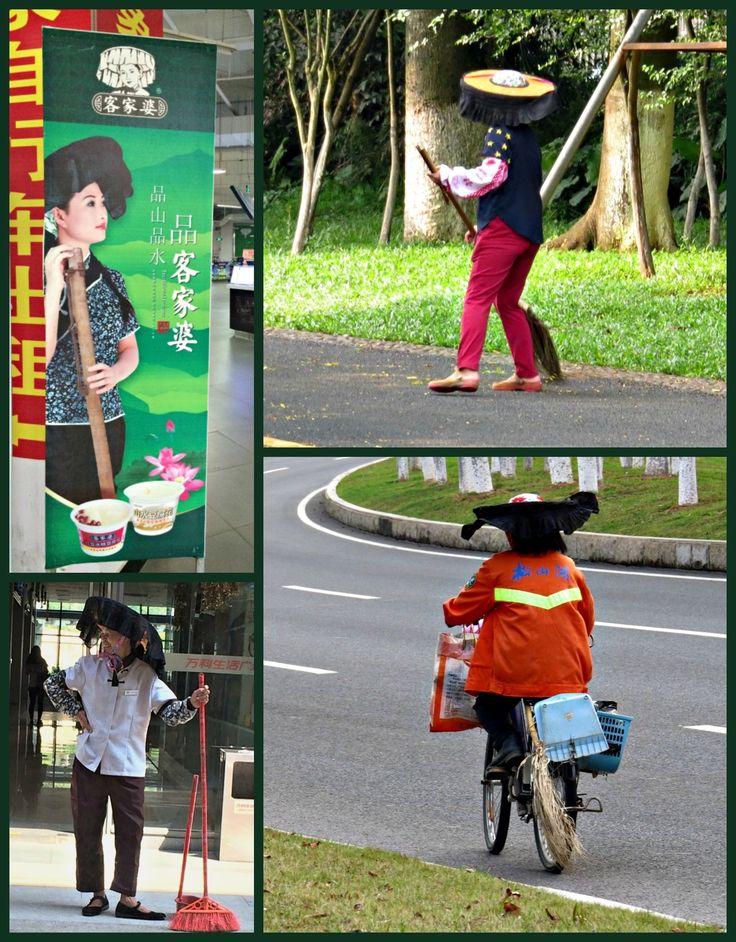 """Life in China: A Picture A Day - May 4, 2016 - Hakka Women's """"Cool hats"""", China - My Own Chinese Brocade Blog Songshan Lake, Dongguan, Guangdong, China"""
