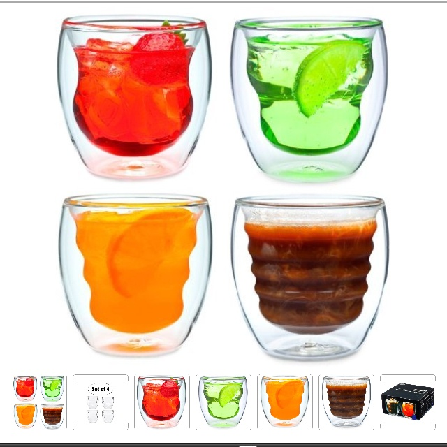I found these on amazon!! I want them so bad!!Drinks Glasses, Artisan Series, Parties Drinks, Hot Drinks, Series Double, Beverages Glasses, Double Wall, Wall Design, Curvas Artisan