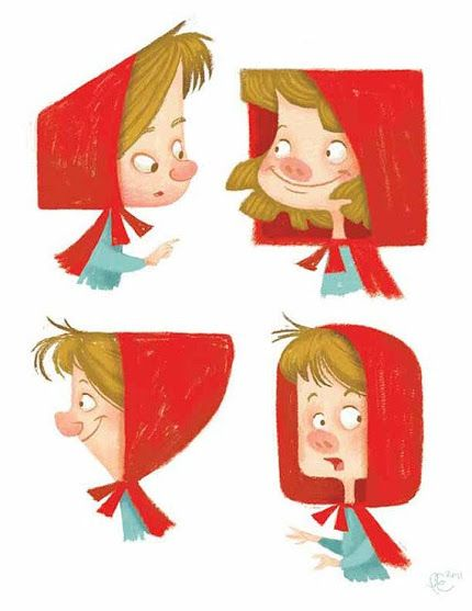 Cartoon Characters Hood Version : Best images about caperucitas little red riding hood
